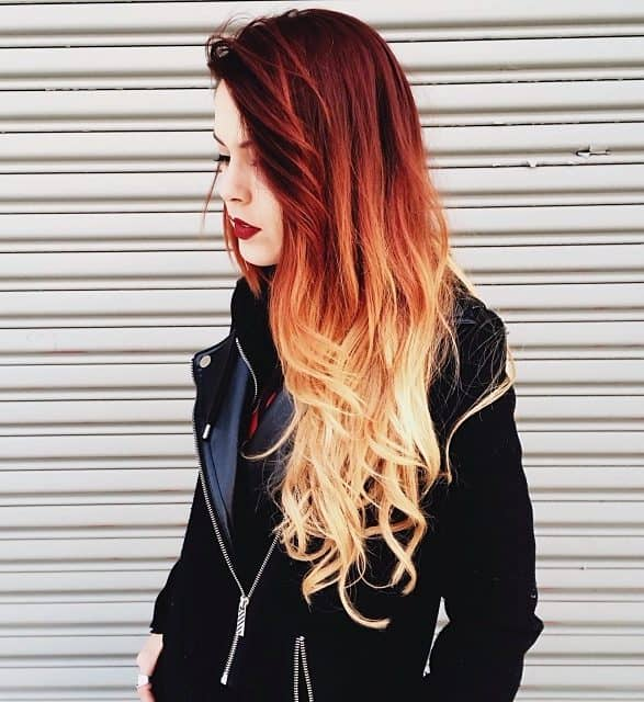 From-Dark-Red-to-Light-Yellow Orange Ombre Hair – 12 Revolutionary Ideas to Rock