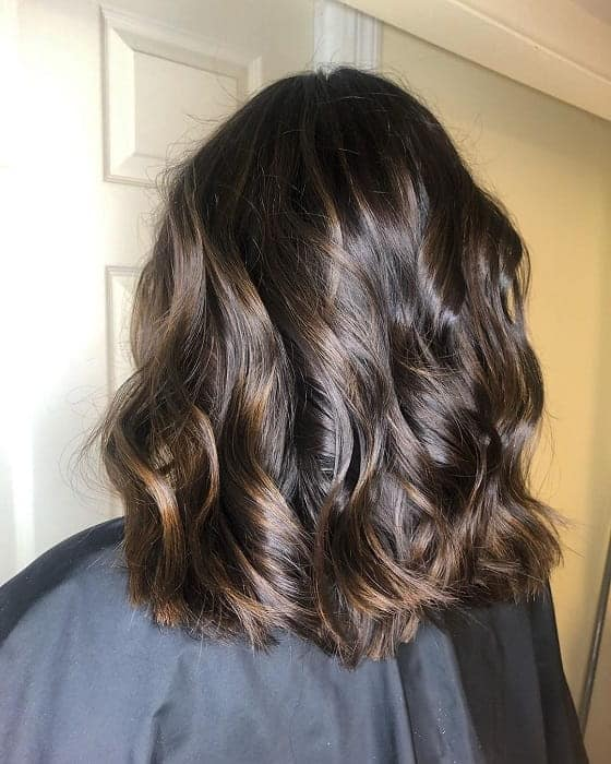 Golden-Blonde-Highlights Gorgeous Black Hairstyles with Highlights