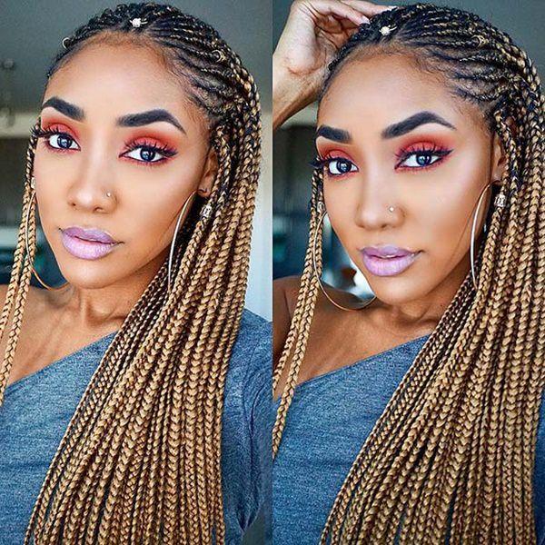 Golden-Locks 14 Amazing Fulani Braids for Black Women