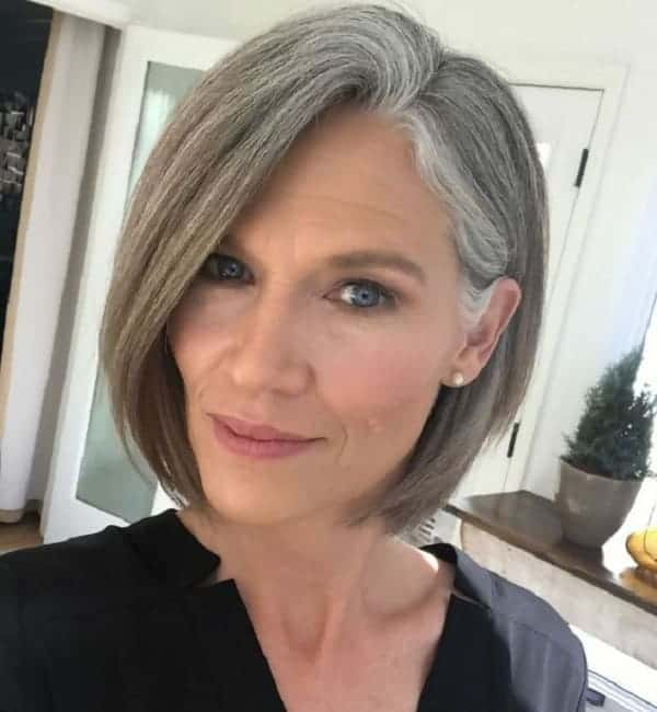 Grey-Hair-Bob Best A-Line Bobs You Need to Try (Trending for 2020)
