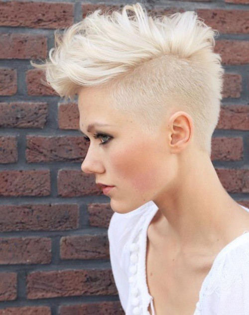 Half-Pixie-Cut Brilliant Half Shaved Head Hairstyles for Young Girls
