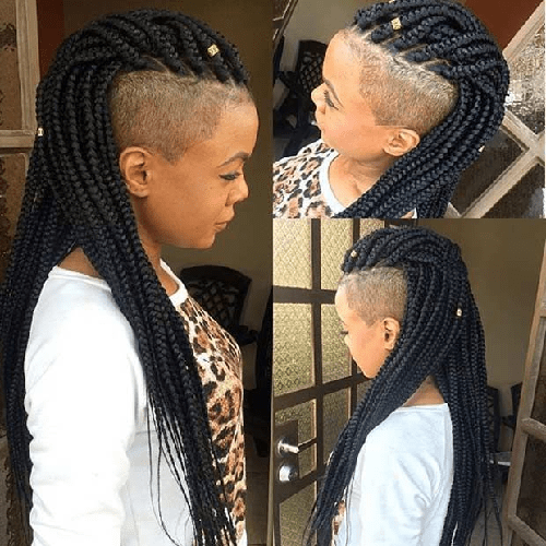 Half-Shaved-Head-Hairstyles-10 Brilliant Half Shaved Head Hairstyles for Young Girls