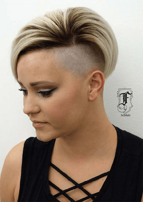 Half-Shaved-Head-Hairstyles-14 Brilliant Half Shaved Head Hairstyles for Young Girls