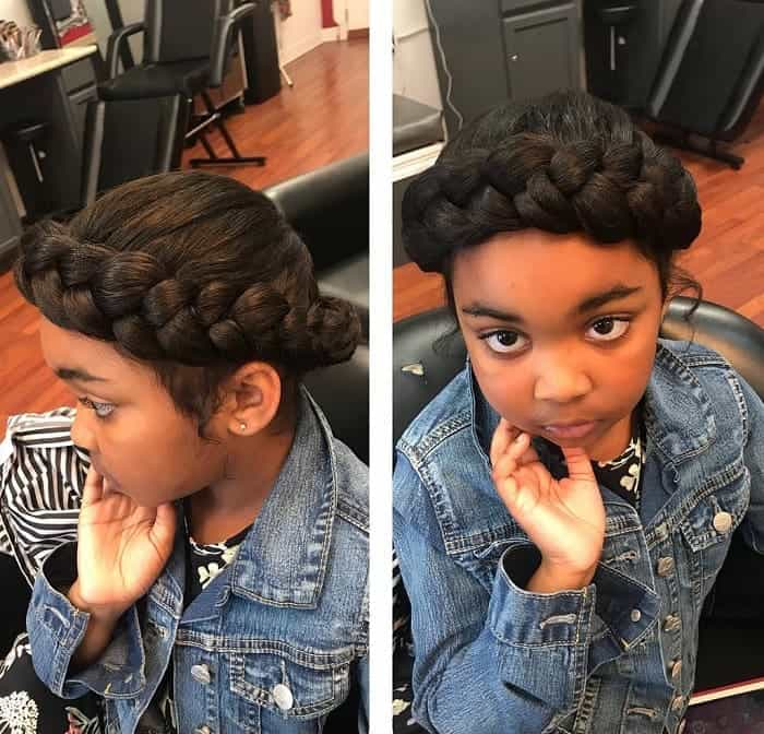 Halo-Braid-for-Kids Cutest Braided Hairstyles for Little Girls Right Now