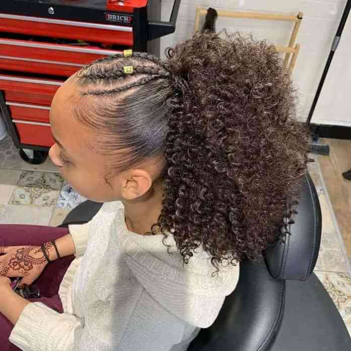 High-Curly-Pony Stunning Ponytail Hairstyles for Black Women