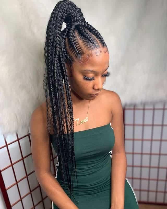 High-Ponytail-Braids Stunning Ponytail Hairstyles for Black Women