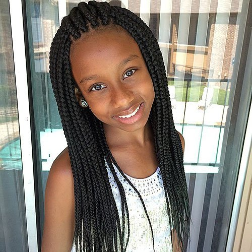 Kids-Swept-Over-Hairstyle Cutest Braided Hairstyles for Little Girls Right Now