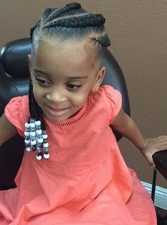 Little-Girl's-Braids-with-Beads-1 How to Style Little Girl's Braids with Beads