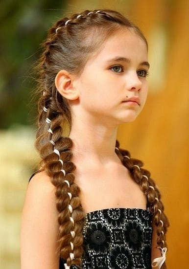 Little-Girl's-Braids-with-Beads-39 How to Style Little Girl's Braids with Beads
