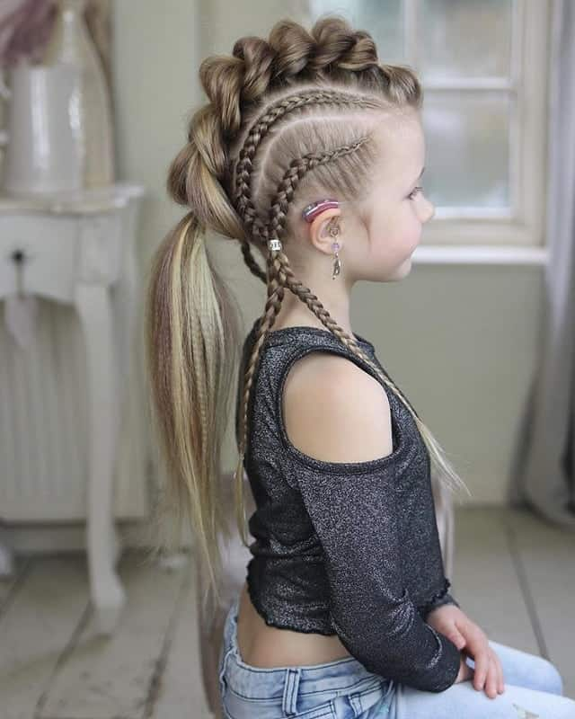 Little-Girl's-Braids-with-Beads-54 How to Style Little Girl's Braids with Beads
