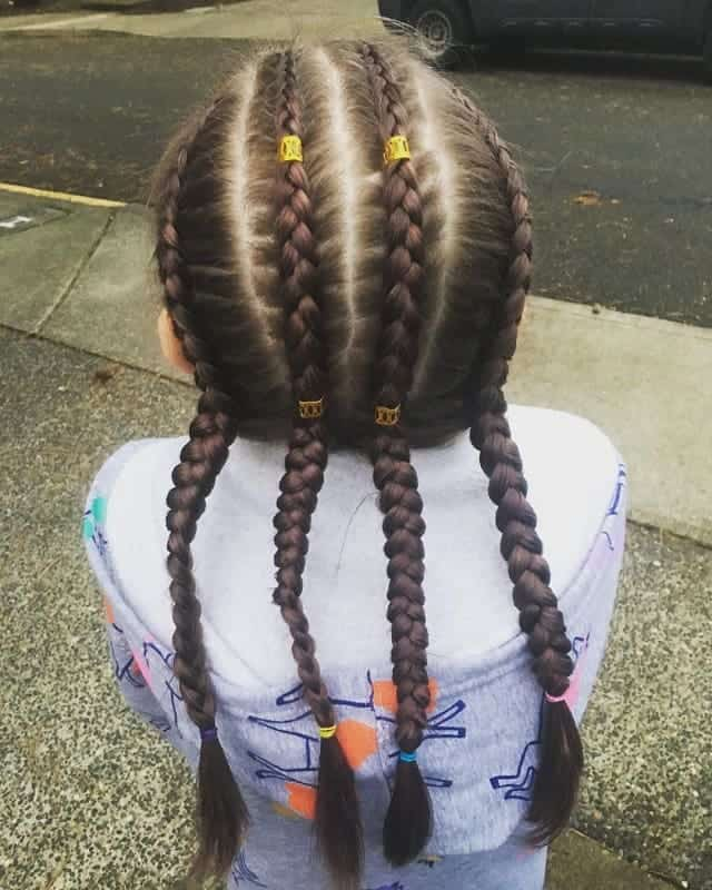 Little-Girl's-Braids-with-Beads-60 How to Style Little Girl's Braids with Beads