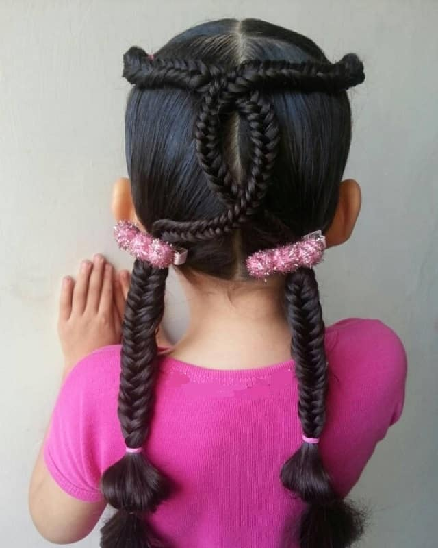Little-Girl's-Braids-with-Beads-67 How to Style Little Girl's Braids with Beads