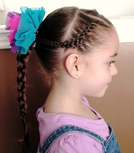 Little-Girl's-Braids-with-Beads-7 How to Style Little Girl's Braids with Beads