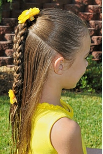 Little-Girl's-Braids-with-Beads-9 How to Style Little Girl's Braids with Beads