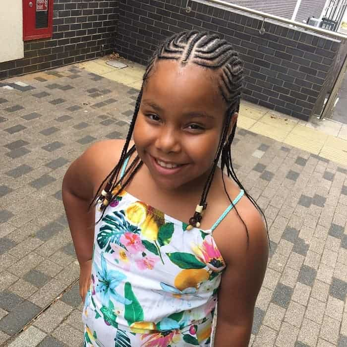 Little-Girl's-Fulani-Braids Cutest Braided Hairstyles for Little Girls Right Now