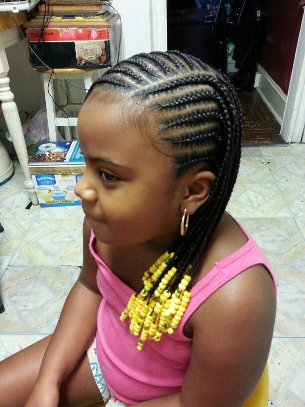 Little-Girl-Braids-with-Beads Cutest Braided Hairstyles for Little Girls Right Now