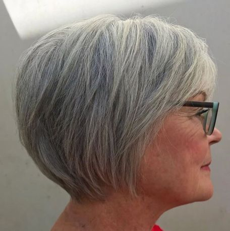 Long-Gray-Pixie-for-Straight-Hair Hairstyles for Women Over 60