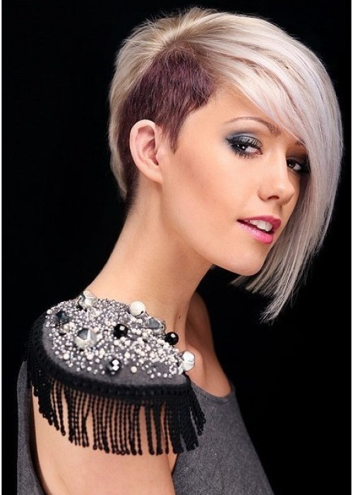 Long-Layered-Look Brilliant Half Shaved Head Hairstyles for Young Girls