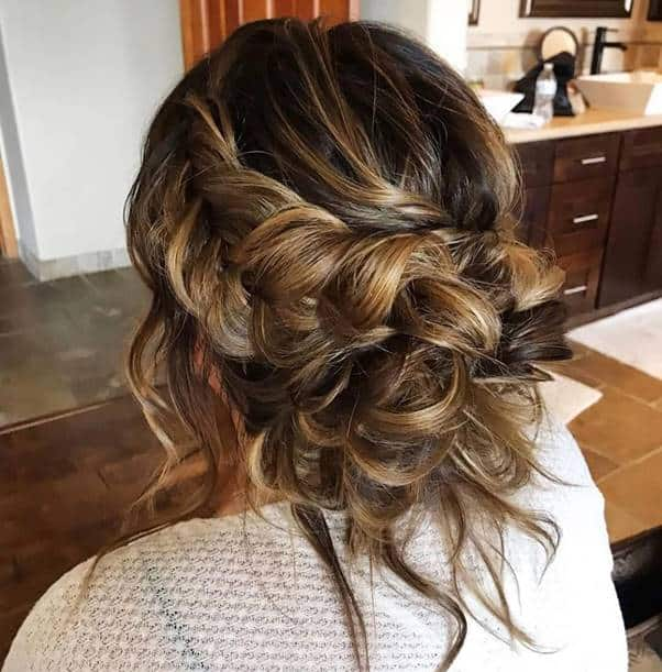 Messy-Cown-Braids Bewitching Brunette Ombre Hair Ideas (2020 Guide)