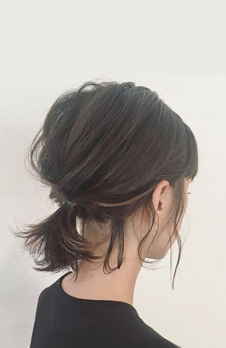 Messy-Updo-1 15 Super Chic Updo Ideas for Short Hair