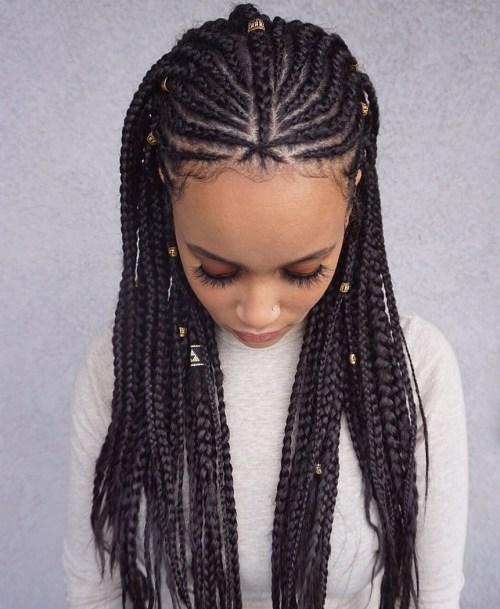 Nubian-Princess-Fulani-Braid 14 Amazing Fulani Braids for Black Women