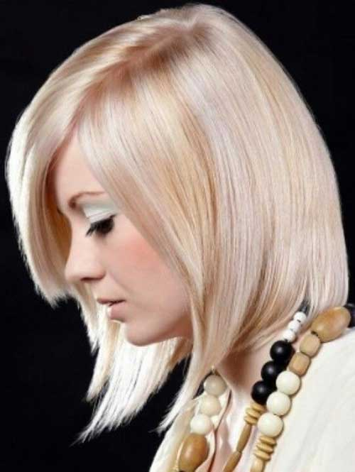 Pink-And-Blonde-Straight-Bob-Hair-with-Side-Bangs Short Blonde And Pink Hairstyles