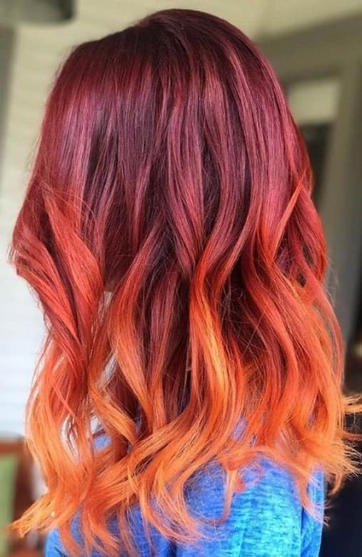 Red-Orange-Hair-Ombre Orange Ombre Hair – 12 Revolutionary Ideas to Rock