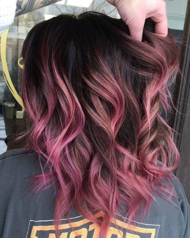Rose-Gold-Balayage Balayage Highlights: Top 10 Styles to Brighten Your Look