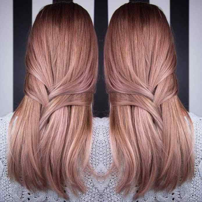 Rose-Gold-Ombre Enthralling Long and Straight Hair Ombre for Women