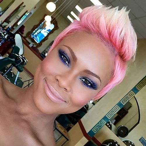 Short-Blonde-Spiky-Hair-With-Pink-Highlights Short Blonde And Pink Hairstyles