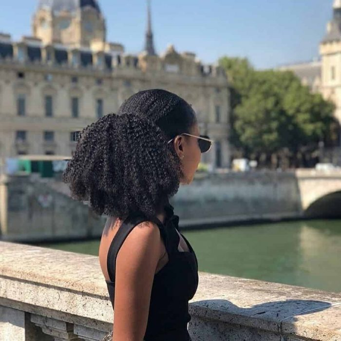 Short-Invisible-Pony Stunning Ponytail Hairstyles for Black Women