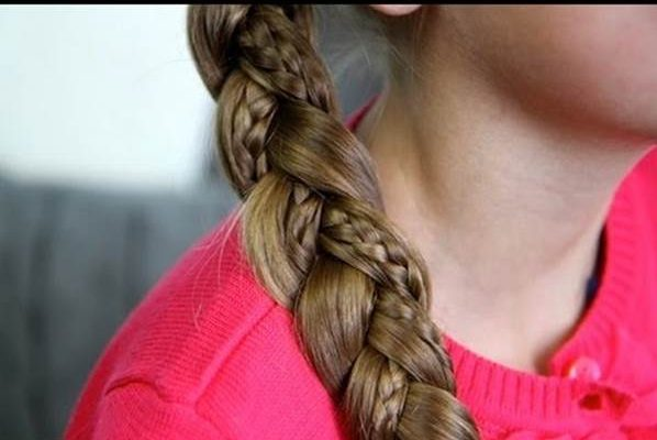 Side-Braid-with-Micro-Braid Cutest Braided Hairstyles for Little Girls Right Now