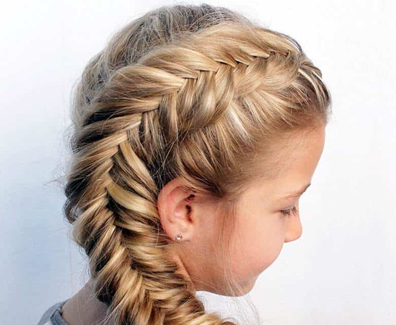 Side-Fishtail-Braid Cutest Braided Hairstyles for Little Girls Right Now