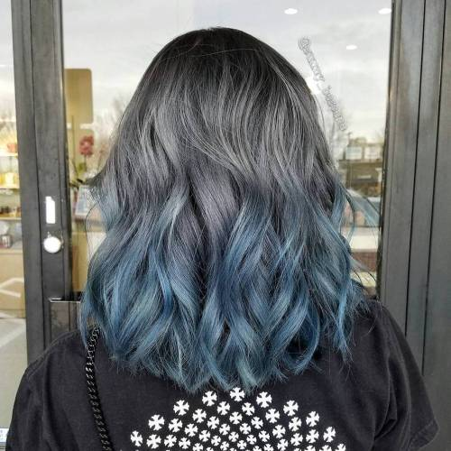 Silver-Blue-Fox 14 Eye-catching Blue Ombre Hairstyles