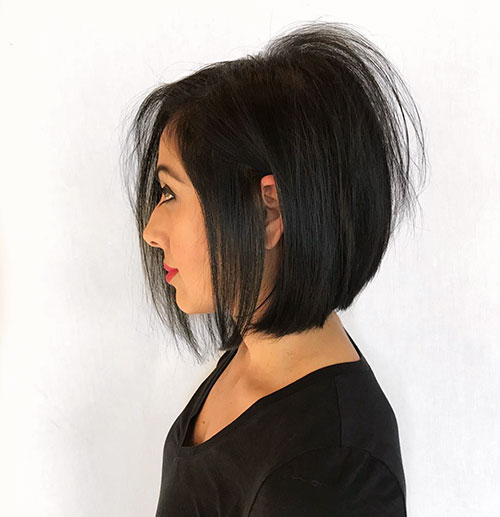 Simple-Dark-Hair Newest And Perfect Lob Styles