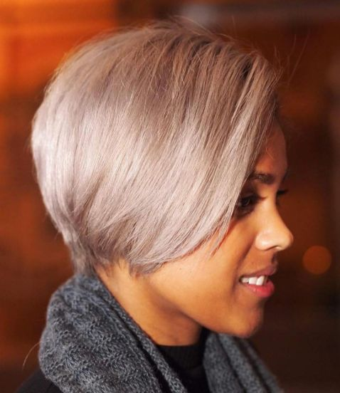Sleek-Ash-Blonde-Pixie-Bob 12 Great Short Hairstyles for Black Women