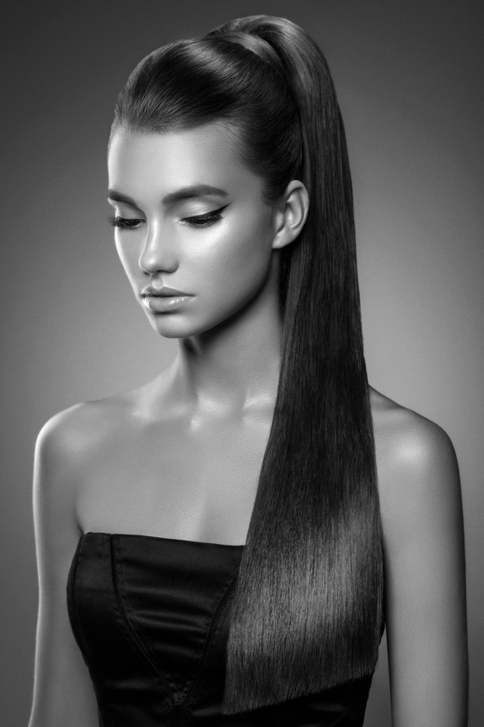 Sleek-Ponytail Dazzling Straight Hairstyles for a Diva Look