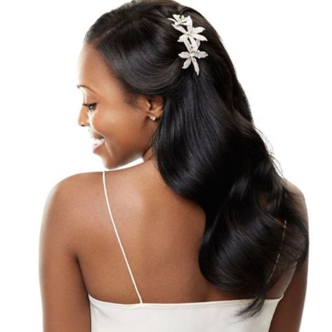 Soft-Smooth-Waves-For-Relaxed-Black-Hair 14 Flattering Black Wedding Hairstyles