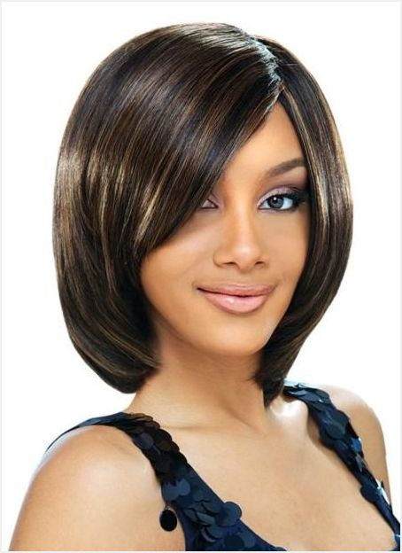 Straight-and-neat Quick and Easy Short Weave Hairstyles
