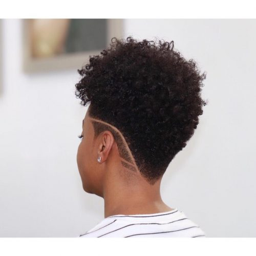 Super-cool-low-undercut-pattern 10 trendy short hairstyles for blackwomen