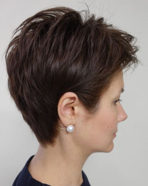 Tapered-Pixie-with-Feathered-Crown 12 Pixie Haircuts for Thick Hair that will inspire your next cut