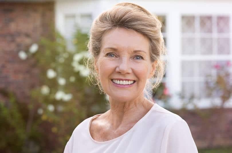 Teased-Sophisticated-Updo Loveliest Medium Length Hairstyles for Older Women