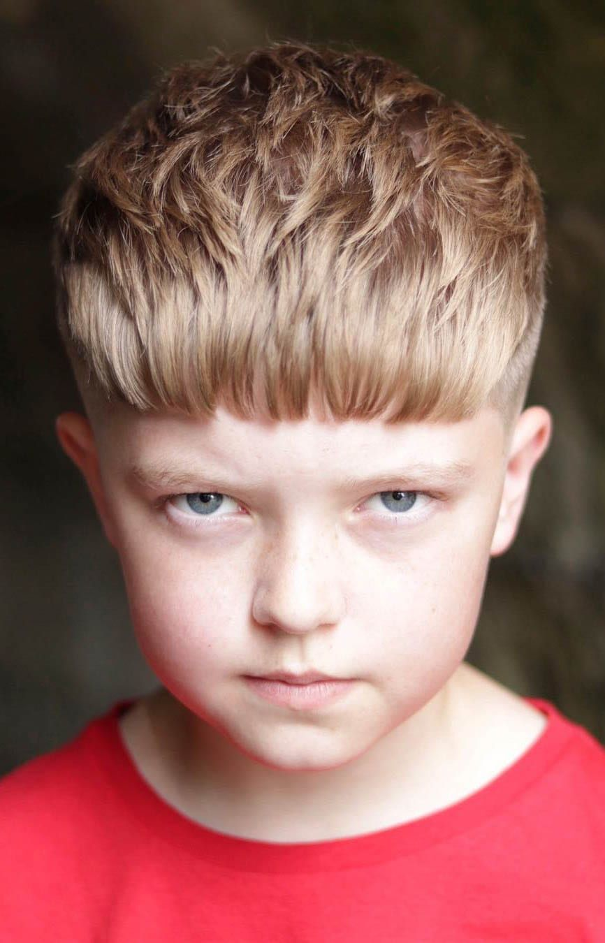 Textured-Long-and-Short-Hair Cute Haircuts for Boys for Charming Look