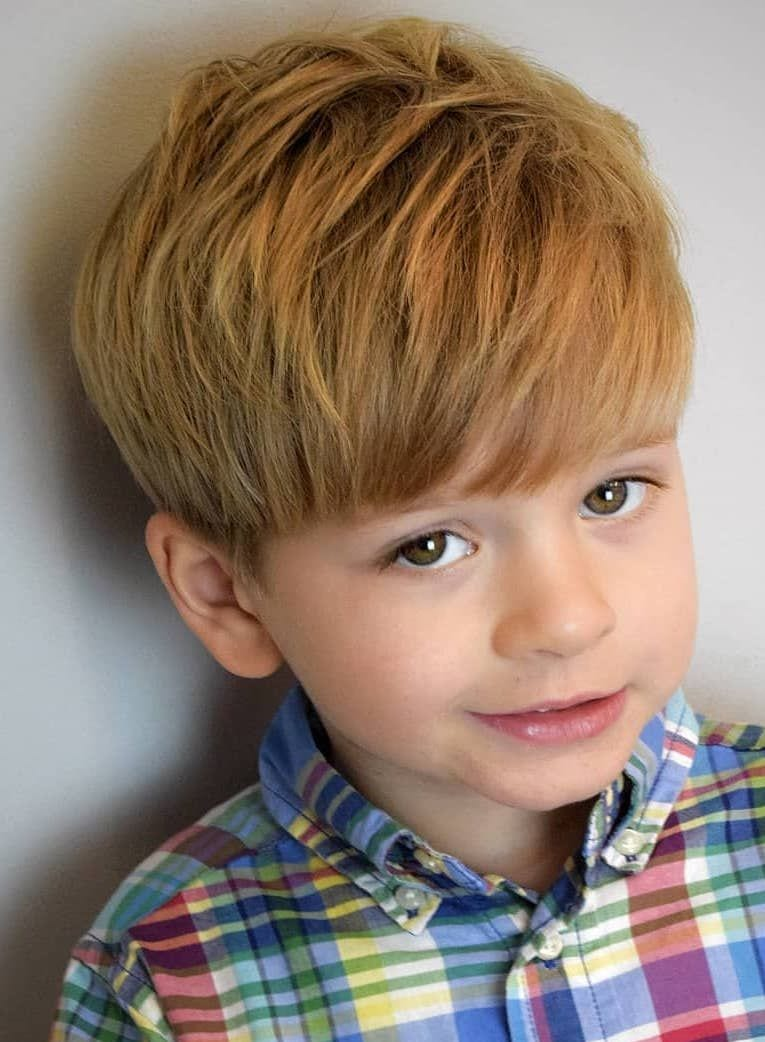 Thick-Medium-Length-Style Cute Haircuts for Boys for Charming Look