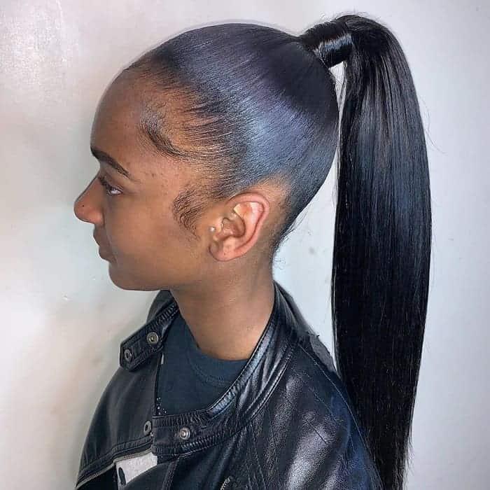Wrap-Around-Pony Stunning Ponytail Hairstyles for Black Women