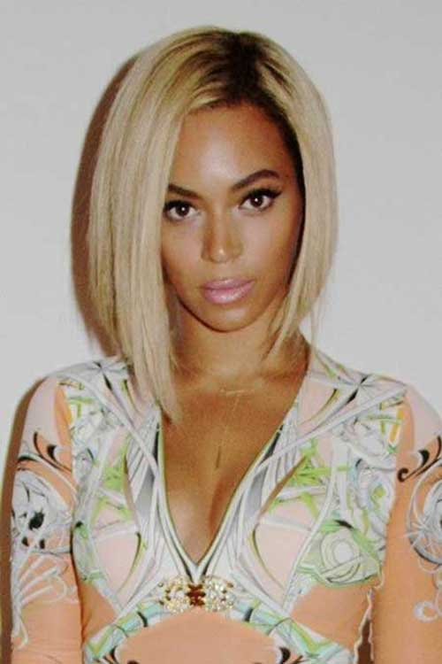 Beyonce's-Short-Blonde-Bob-Hairsyle Naturally Short Hairstyles for Beautiful Black Women