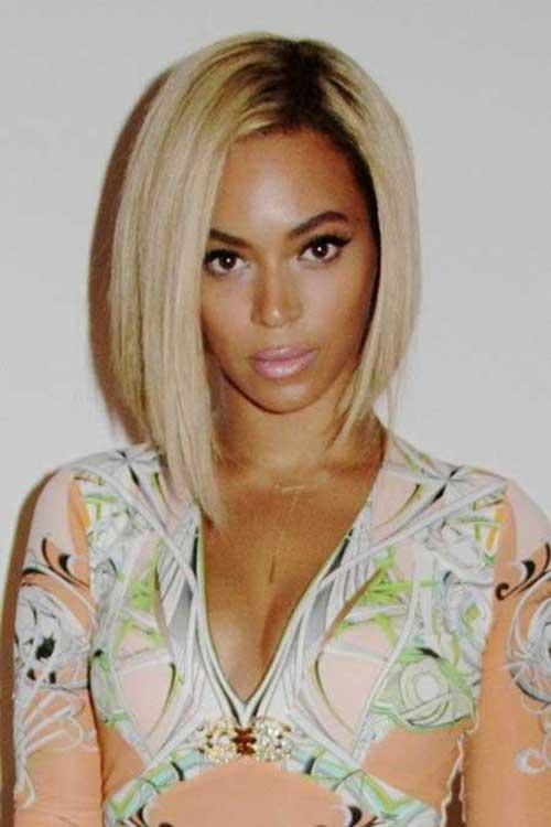 Beyonce's-Short-Blonde-Bob-Hairsyle Naturally Short Hairstyles for Beautiful Black Women