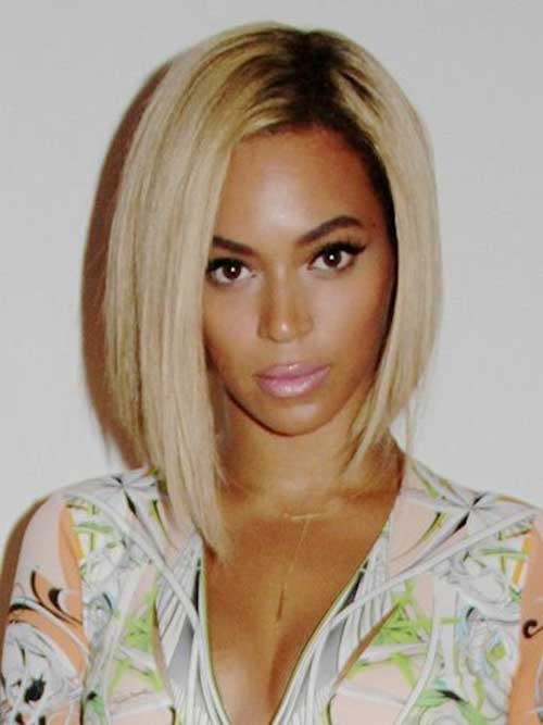 Beyonce's-Straight-Blonde-Bob-Style Best Ways to Sport Bob Hairstyles with Thick Hair