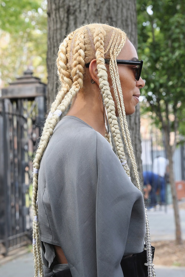 Blonde-Thick-and-Thin-Braids Natural Hair Braids to Enhance Your Beauty
