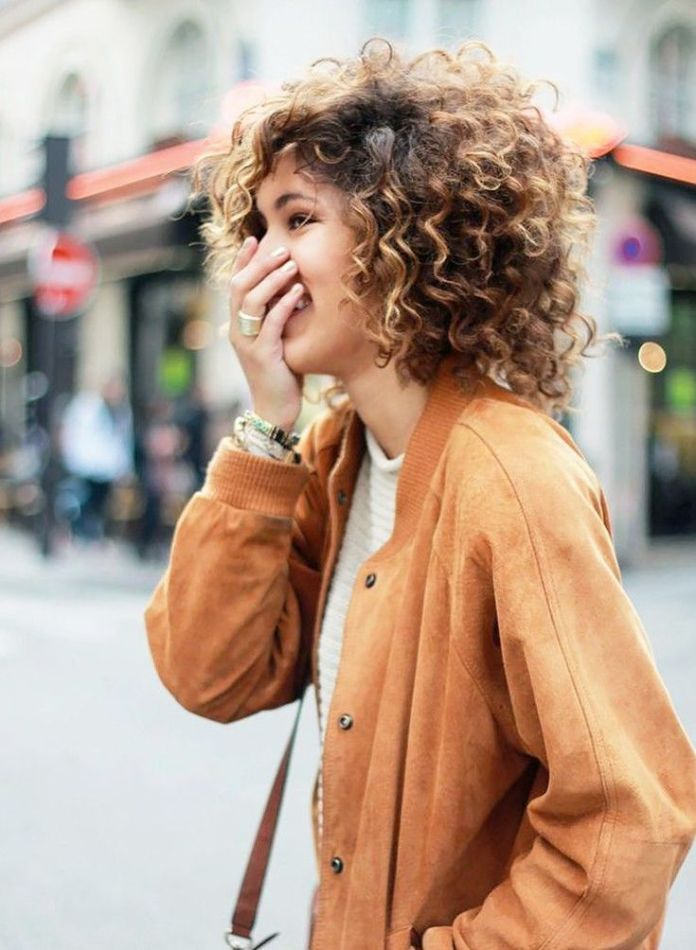 Bob 11 On-trend Haircuts for Girls With Extremely Curly Hair